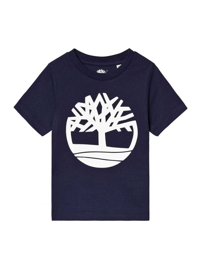 Navy Cotton Logo T-Shirt
