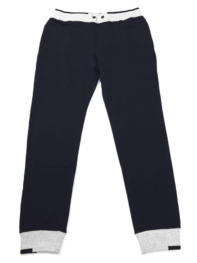 Armani Kids Navy and Grey Cuffed Jog Pant