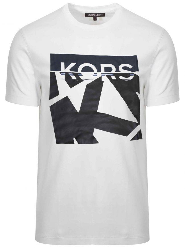 White Printed Logo T-Shirt