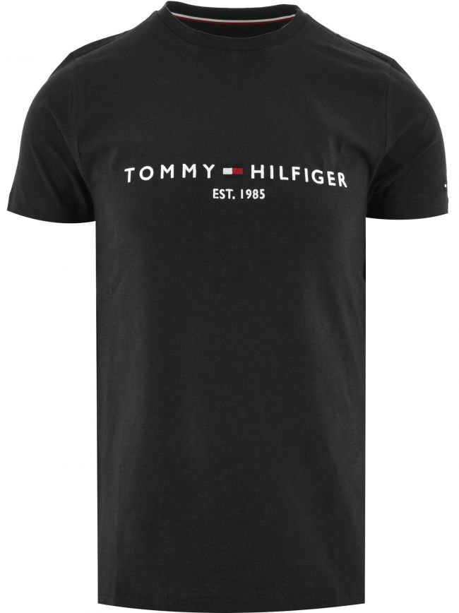 Black Core Tommy Logo T-Shirt