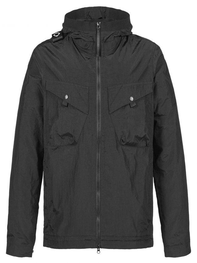 Black Lightweight Hooded Jacket