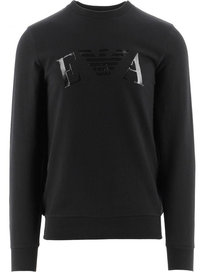 Black Long Sleeve Crew Neck Sweatshirt