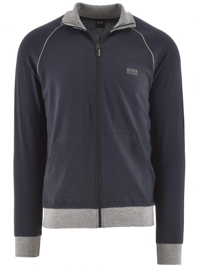 Navy Mix & Match Zip Sweatshirt