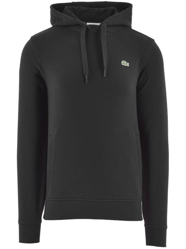 Black Hooded Fleece Sweatshirt