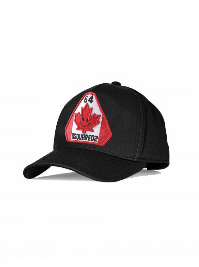 Black 64 Patch Embroidered Cap