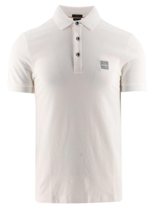 White Slim Fit Stretch Cotton Passenger 1 Polo Shirt