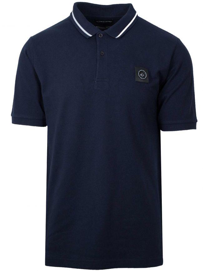 Navy Blue Siren Polo Shirt