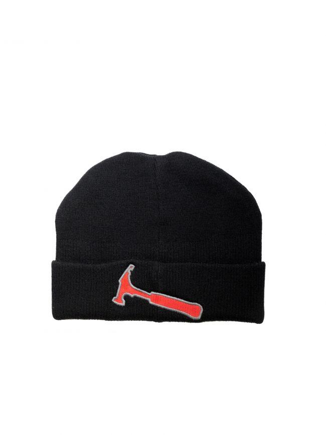 Ribbed Wool Beanie Hat