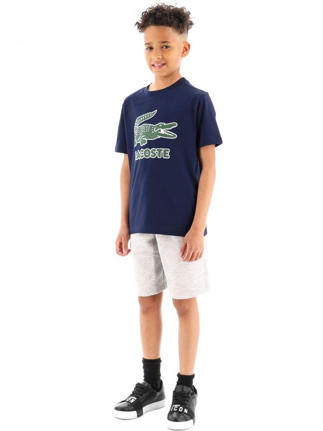 Lacoste Kids Navy Crew Neck T-Shirt