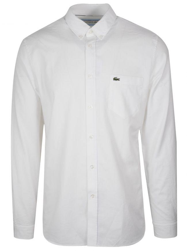Long-Sleeved White Shirt