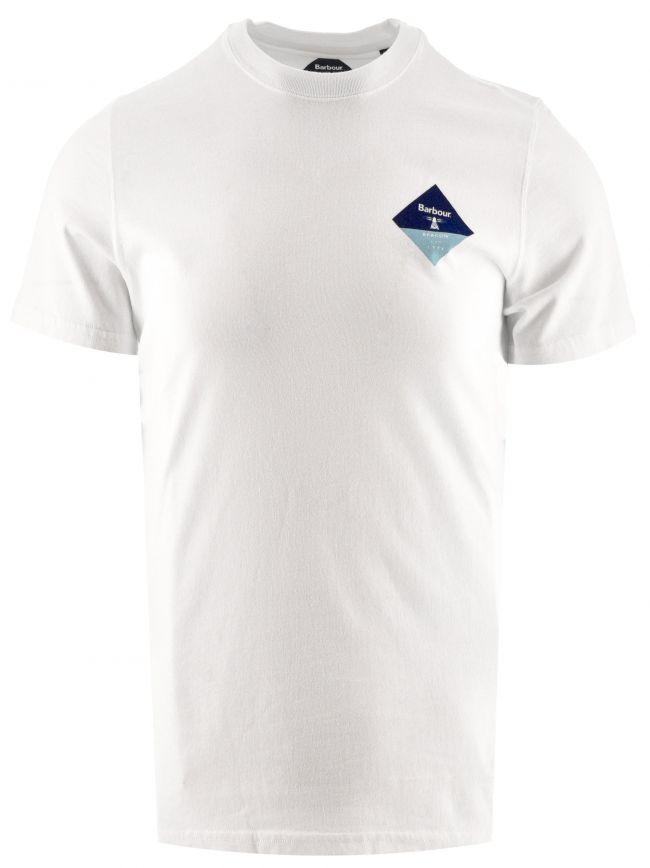 Bright White Small Diamond T Shirt