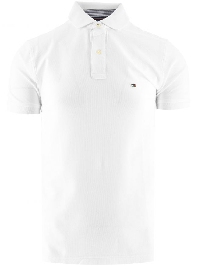 White Core Hilfiger Regular Fit Polo Shirt