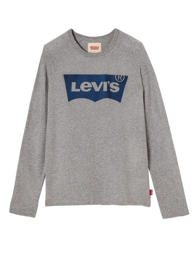 Grey Long Sleeve Batwing T-Shirt