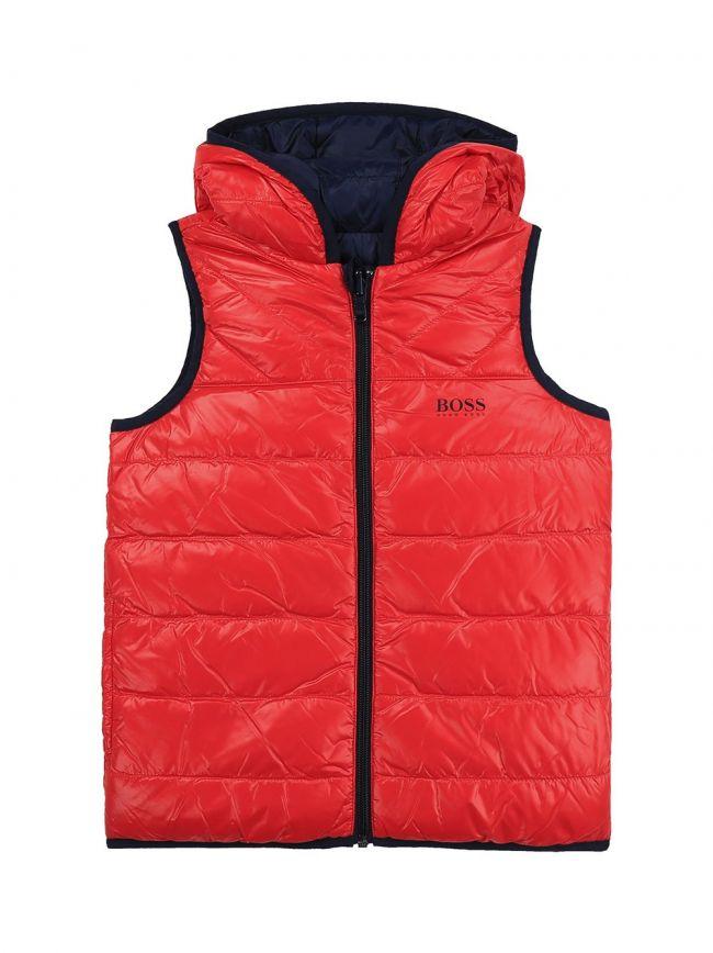Red & Navy Reversible Puffer Jacket