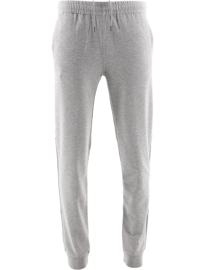 Grey Cotton Modal Striped Jogging Pant