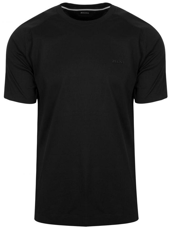 Black Plain Crew Neck T-Shirt
