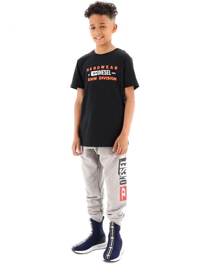 Diesel Kids Black T-Diego-SK32 T-Shirt