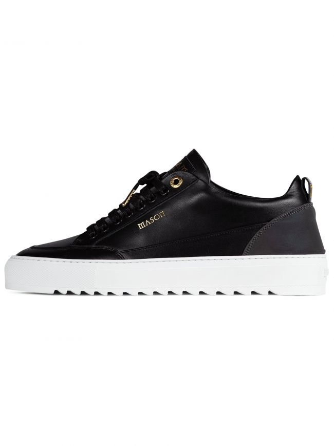 Reflective Black Tia Leather Sneaker