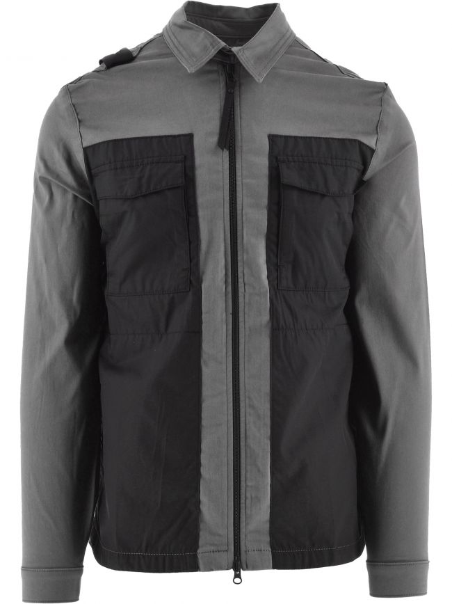 Grey Zip-Through Overshirt