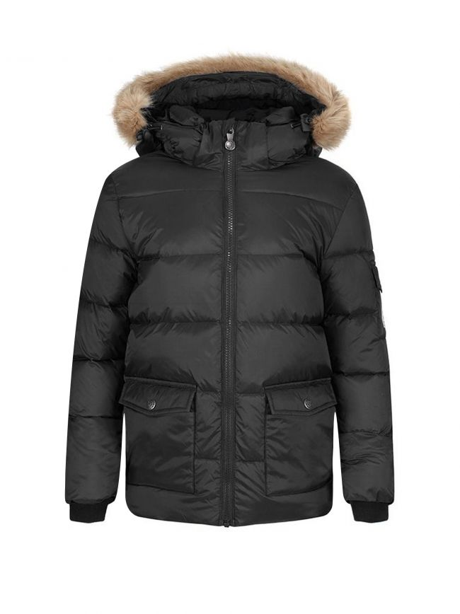 Authentic Fur Down Filled Black Jacket