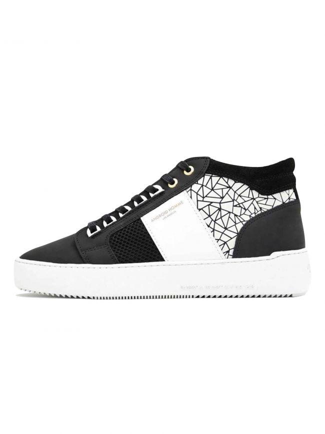 Black & White Mosaic Propulsion Mid Sneaker