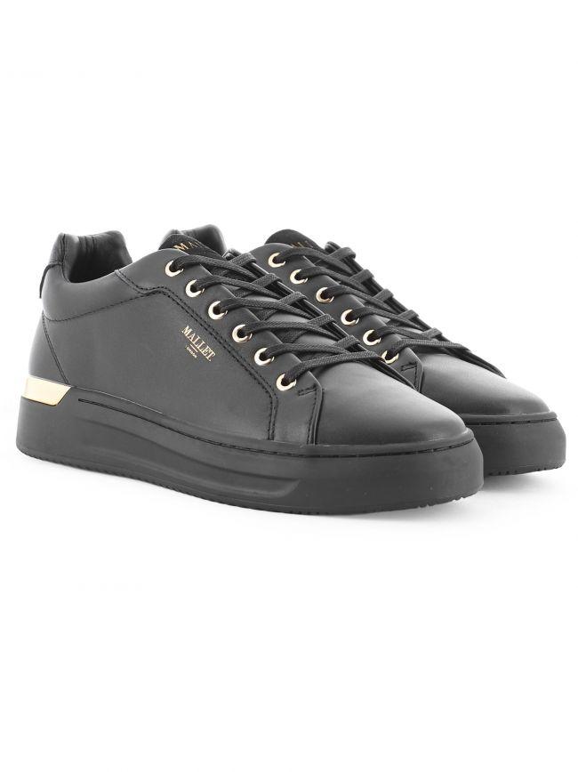 Black GRFTR Midnight Leather Sneaker