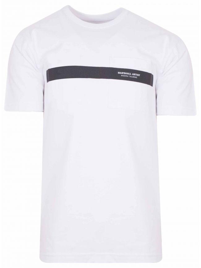 White Short Sleeve Iridescent T-Shirt