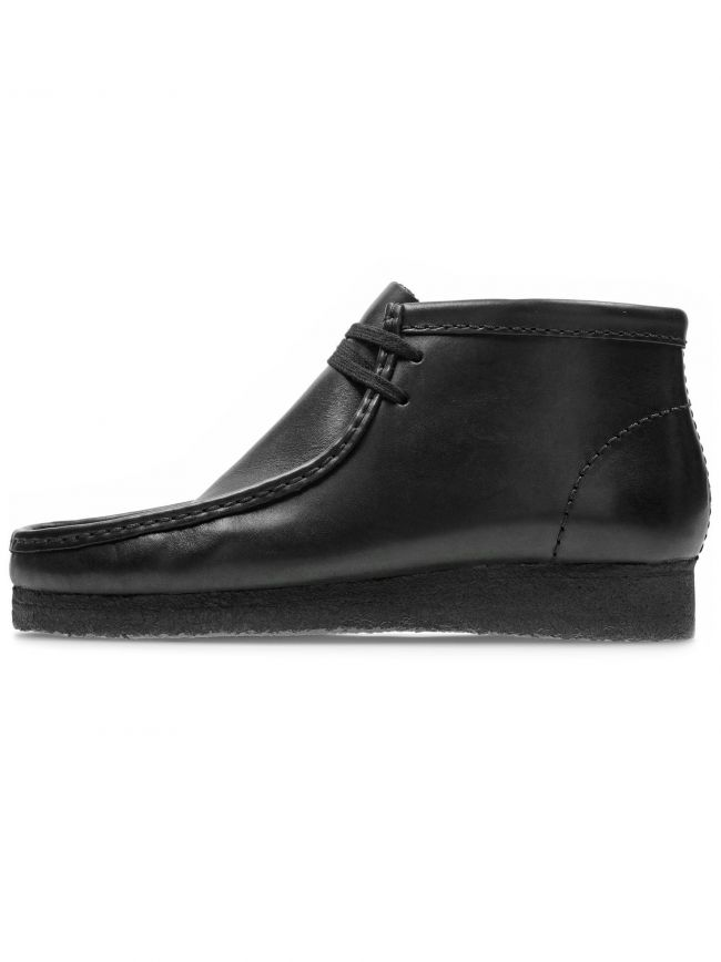Black Leather Wallabee Boot