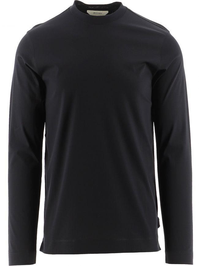 Black Long Sleeve Plain T-Shirt