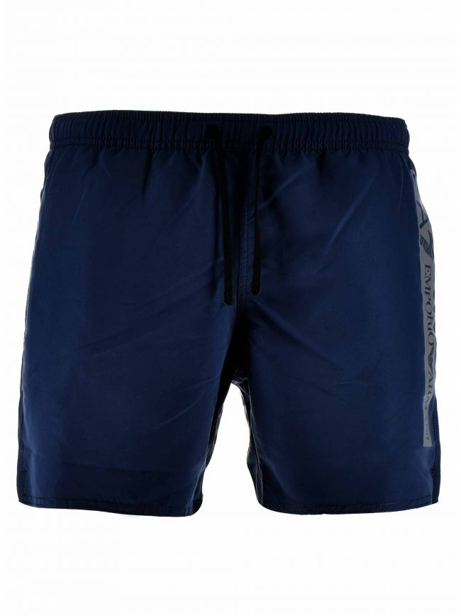Navy Reflective Logo Swim Short