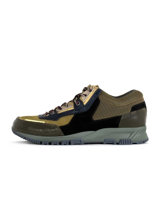 Khaki & Blue Suede, Leather & Mesh Runner