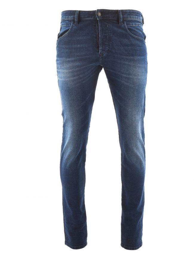 "Tapered Stretch D Bazer Blue Jean 30"" Leg"