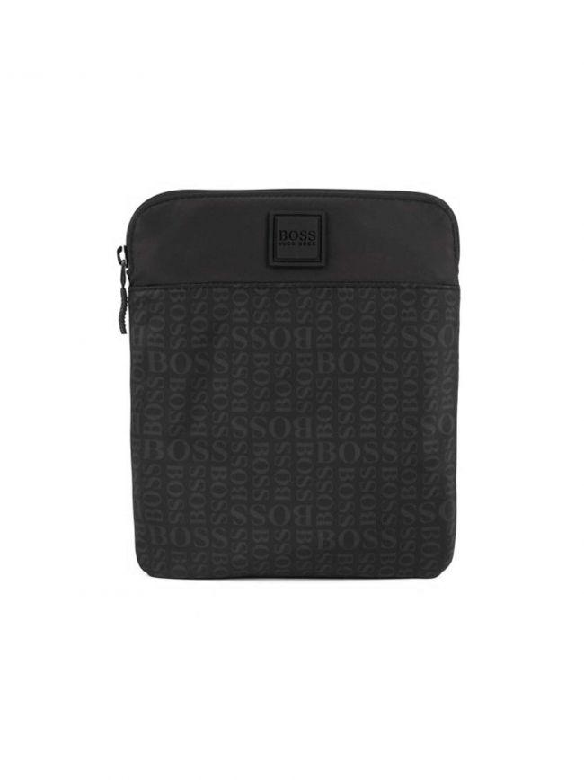 Black Logo Small Zip Envelope Bag