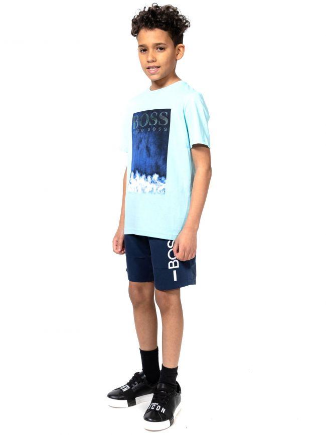 BOSS Kids Green Graphic Print T-Shirt