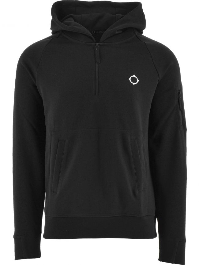 Black Tech Fleece Hoody