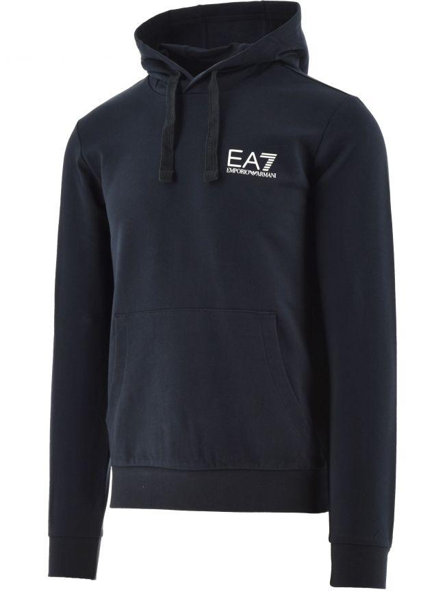 Blue Logo Hooded Sweatshirt