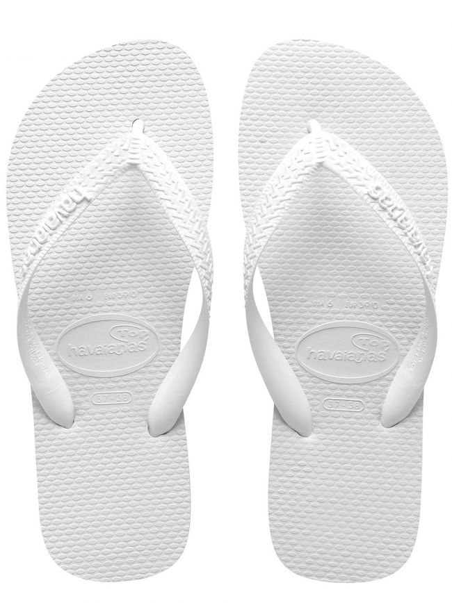 White Top Flip Flops