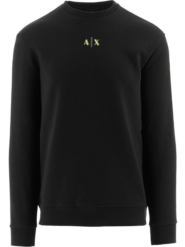 Black Regular Fit Sweatshirt