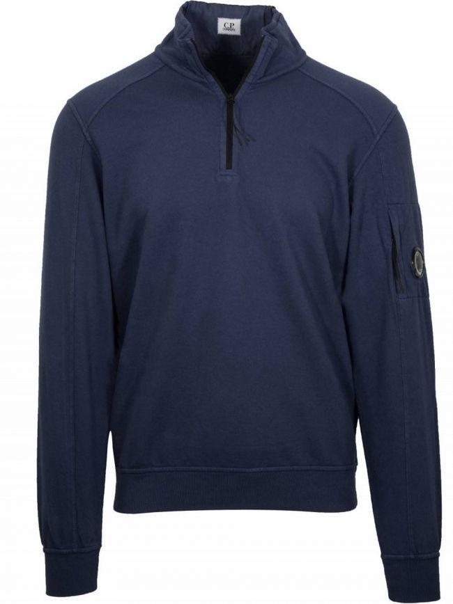 Navy Blue Half Zip Sweatshirt