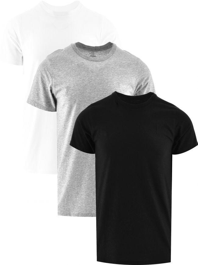 Black Short Sleeve Crew Neck 3-Pack T-Shirt