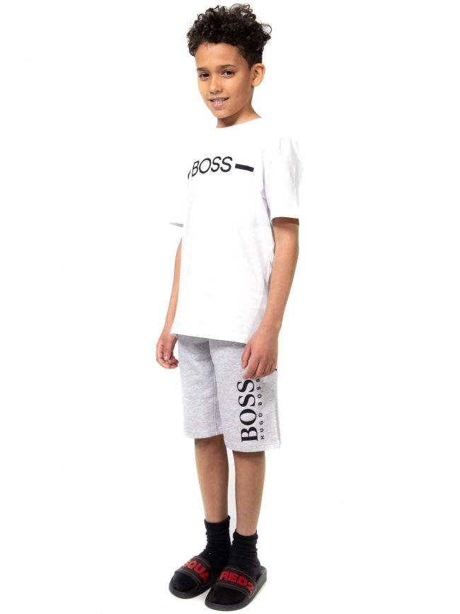 BOSS Kids White Logo T-Shirt