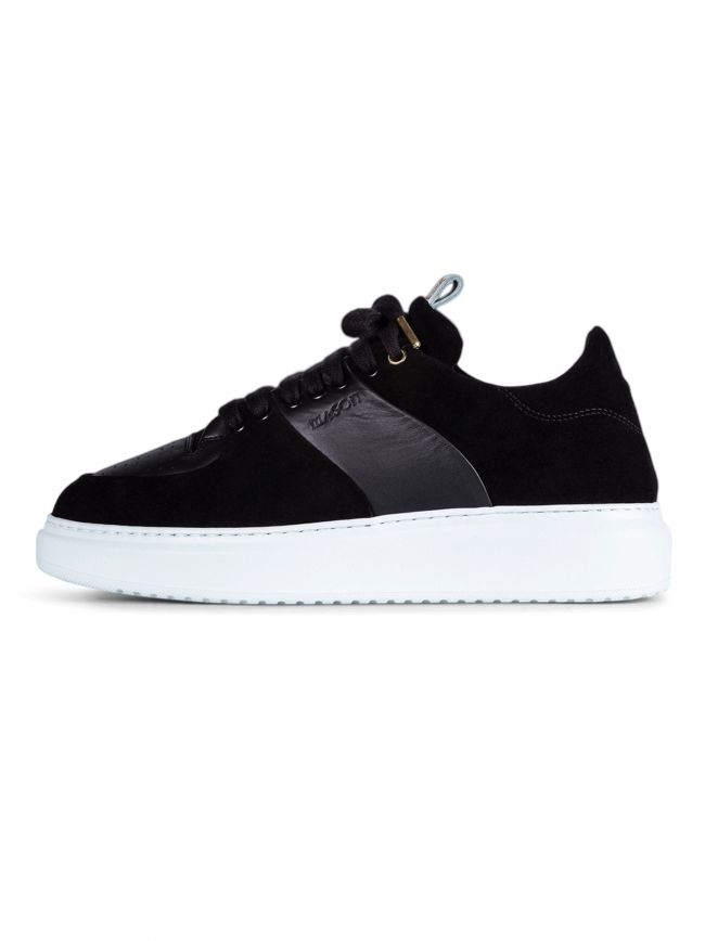 Black Suede & Leather Roma Sneaker