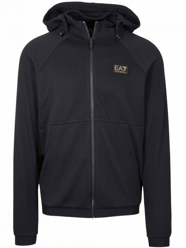 Black Hooded Polyester Sweatshirt
