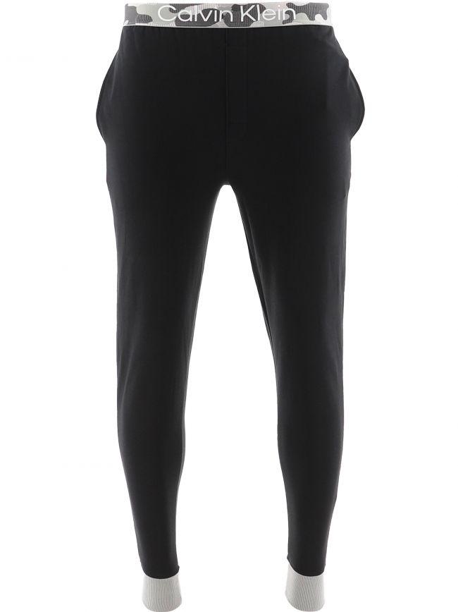 Black Galvanaized Lounge Jogging Pant