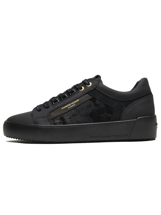 Black Goma Leather Camo Suede Venice Sneaker