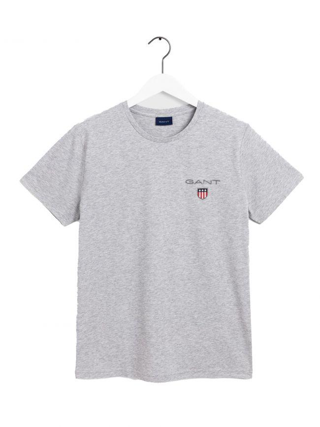 Light Grey Shield Logo T Shirt