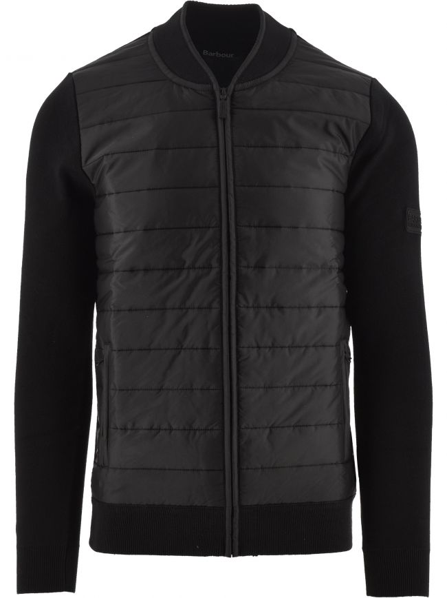 Black Baffle Zip-Through Jacket