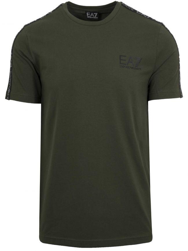 Forest Green Tape Logo T-Shirt