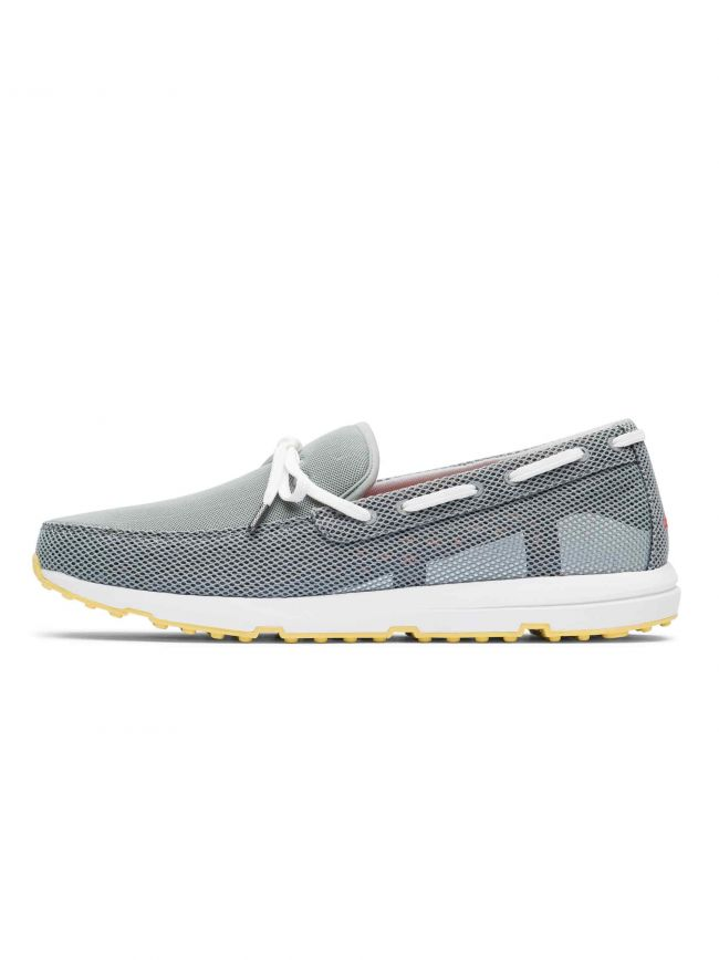 Grey & White Breeze Leap Laser Loafer