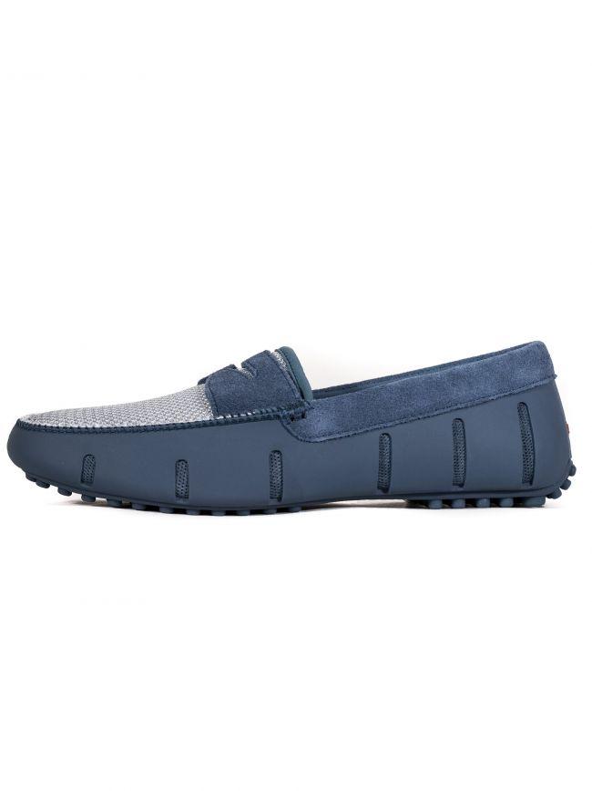 Slate Blue Penny Lux Driver Loafer